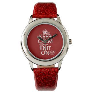 Guarde la calma y haga punto encendido - todos los reloj de mano