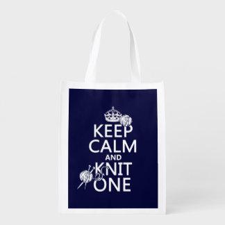 Guarde la calma y haga punto uno - todos los bolsa de la compra
