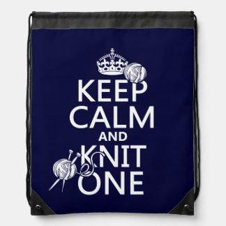 Guarde la calma y haga punto uno - todos los mochilas