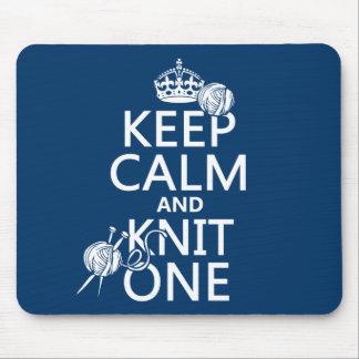 Guarde la calma y haga punto uno - todos los mousepad
