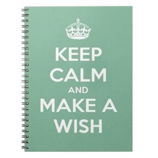 Guarde la calma y haga un deseo el trullo suave libro de apuntes