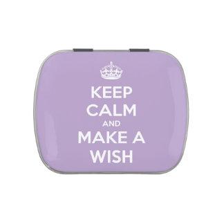 Guarde la calma y haga una lavanda del deseo la la frascos de caramelos