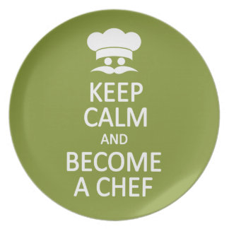 Guarde la calma y haga una placa del personalizado platos para fiestas