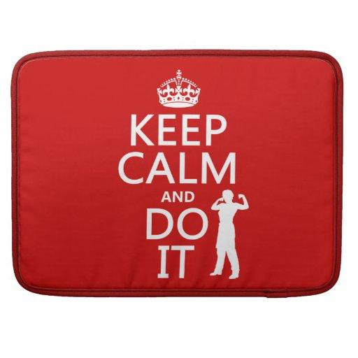 Guarde la calma y hágala (cualquier color de fondo fundas macbook pro