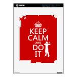 Guarde la calma y hágala (cualquier color de fondo iPad 3 pegatina skin