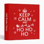 Guarde la calma y Ho Ho Ho - navidad/Santa