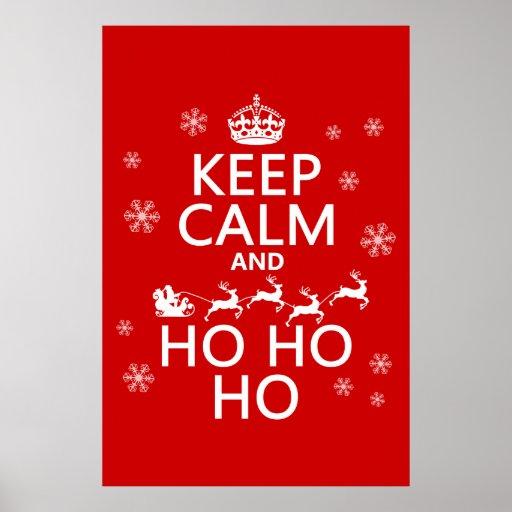 Guarde la calma y Ho Ho Ho - navidad/Santa Posters