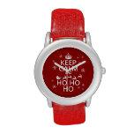 Guarde la calma y Ho Ho Ho - navidad/Santa Relojes De Mano