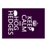 Guarde la calma y Hog los setos (erizos) (todos lo Tarjetas Personales