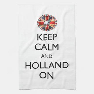 Guarde la calma y Holanda encendido Toallas