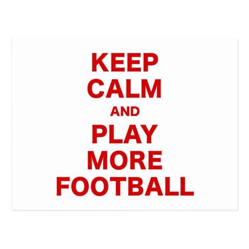 Guarde la calma y juegue a más fútbol postales