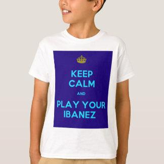 Guarde la calma y juegue a su Ibanez Remera