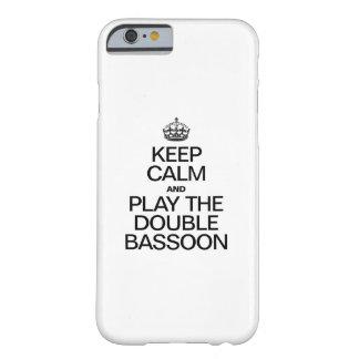 GUARDE LA CALMA Y JUEGUE EL BASSOON DOBLE FUNDA BARELY THERE iPhone 6