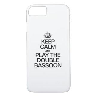 GUARDE LA CALMA Y JUEGUE EL BASSOON DOBLE FUNDA iPhone 7