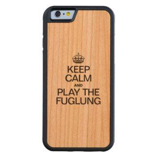 GUARDE LA CALMA Y JUEGUE EL FUGLUNG FUNDA DE iPhone 6 BUMPER CEREZO
