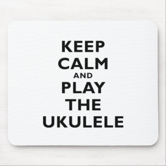 Guarde la calma y juegue el Ukulele Mouse Pad