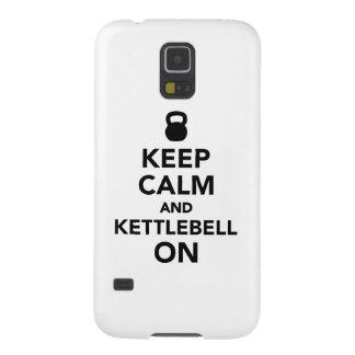Guarde la calma y Kettlebell encendido Carcasa De Galaxy S5