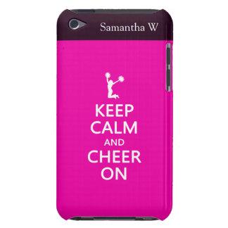 Guarde la calma y la alegría encendido, rosa de la Case-Mate iPod touch cárcasas