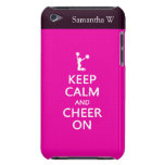 Guarde la calma y la alegría encendido, rosa de la iPod touch Case-Mate carcasas