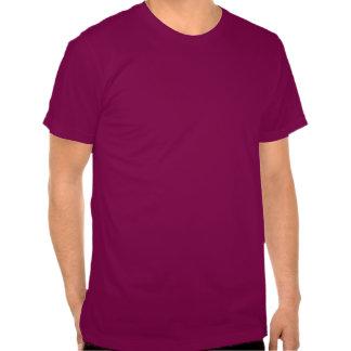 Guarde la calma y la alegría encendido rosa de la camisetas