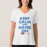 Guarde la calma y la caída en la camiseta con playeras