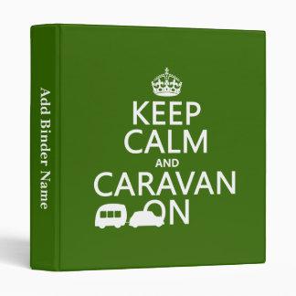 Guarde la calma y la caravana en (los colores adap