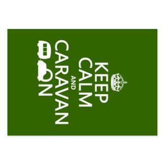 Guarde la calma y la caravana en (los colores adap tarjetas de negocios