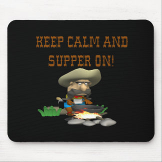 Guarde la calma y la cena encendido tapetes de raton