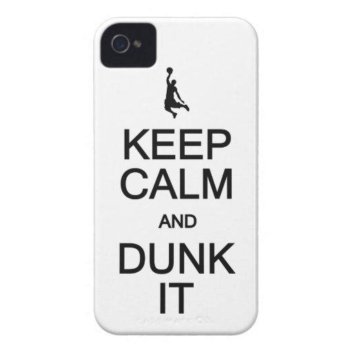 Guarde la calma y la clavada él caja intrépida de iPhone 4 Case-Mate cobertura