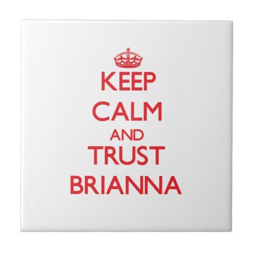 Guarde la calma y la CONFIANZA Brianna Teja Ceramica