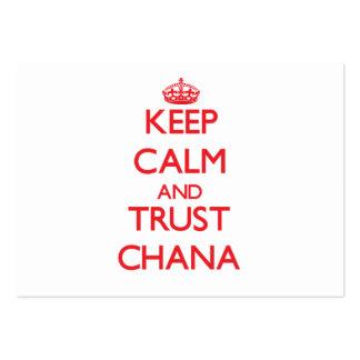 Guarde la calma y la CONFIANZA Chana Tarjeta Personal