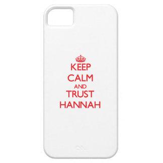 Guarde la calma y la CONFIANZA Hannah iPhone 5 Cárcasa