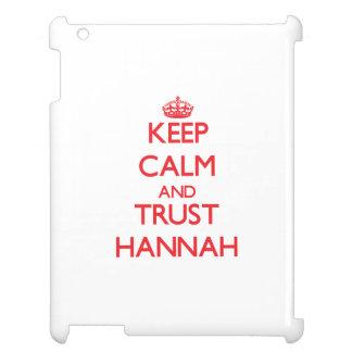 Guarde la calma y la CONFIANZA Hannah
