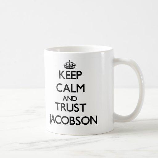 Guarde la calma y la confianza Jacobson Tazas