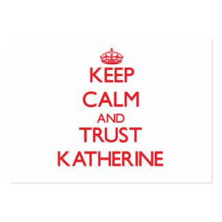 Guarde la calma y la CONFIANZA Katherine Tarjeta De Visita