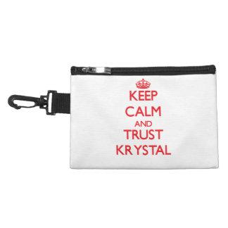 Guarde la calma y la CONFIANZA Krystal