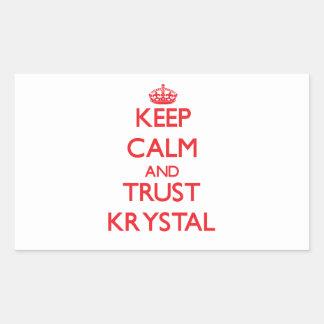 Guarde la calma y la CONFIANZA Krystal Rectangular Altavoces
