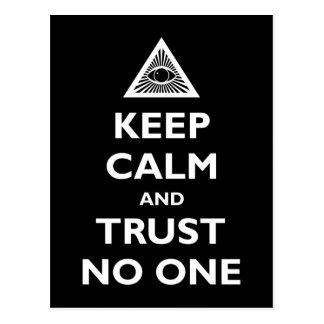 Guarde la calma y la confianza nadie postal