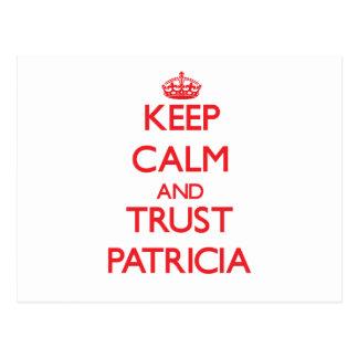 Guarde la calma y la CONFIANZA Patricia Postales