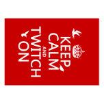Guarde la calma y la contracción nerviosa en (cual tarjeta de visita
