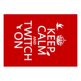 Guarde la calma y la contracción nerviosa en tarjetas de visita grandes