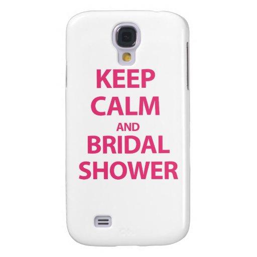 ¡Guarde la calma y la ducha nupcial! Funda Para Galaxy S4