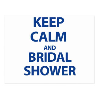 ¡Guarde la calma y la ducha nupcial! Postales