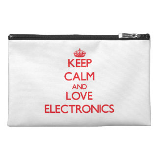 Guarde la calma y la electrónica del amor