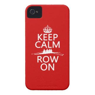 Guarde la calma y la fila en (elija cualquier Case-Mate iPhone 4 cárcasas