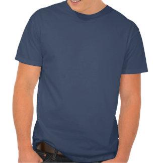 Guarde la calma y la fila en la camiseta para los playera
