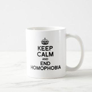 GUARDE LA CALMA Y LA HOMOFOBIA DEL FINAL TAZA CLÁSICA