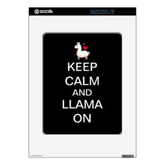 Guarde la calma y la llama en piel iPad skins