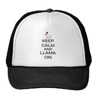 Guarde la calma y la llama encendido gorra