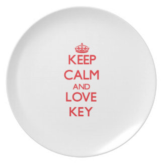 Guarde la calma y la llave del amor platos de comidas